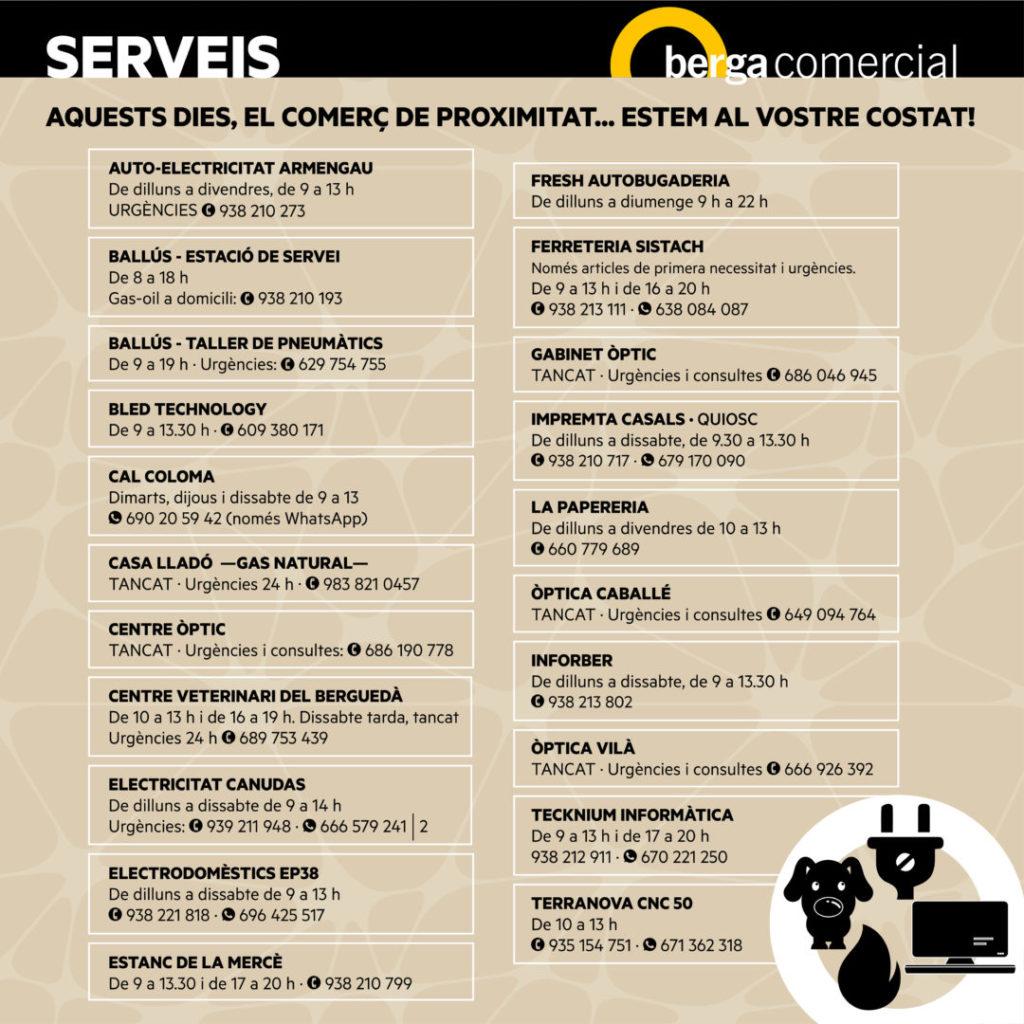 CORONAVIRUS HORARIS OBERTS serveis