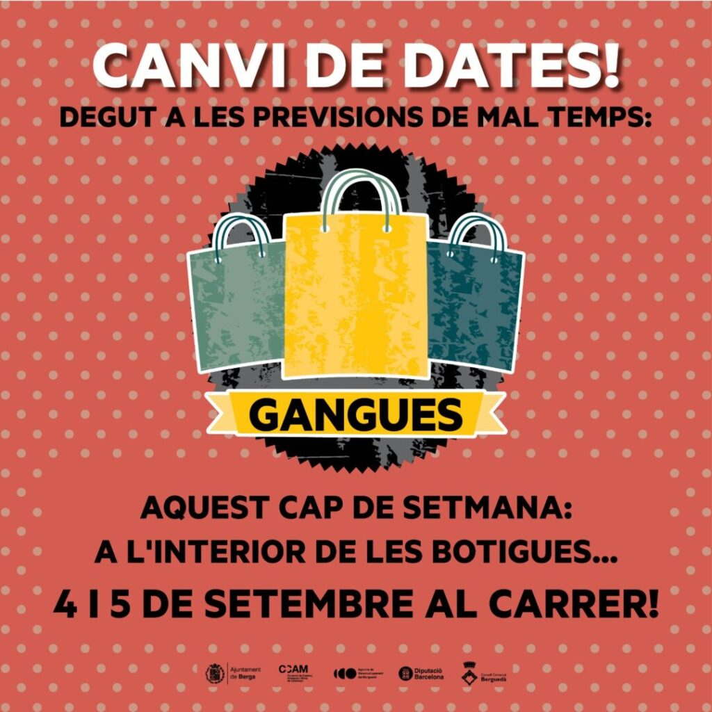 canvi dates gangues